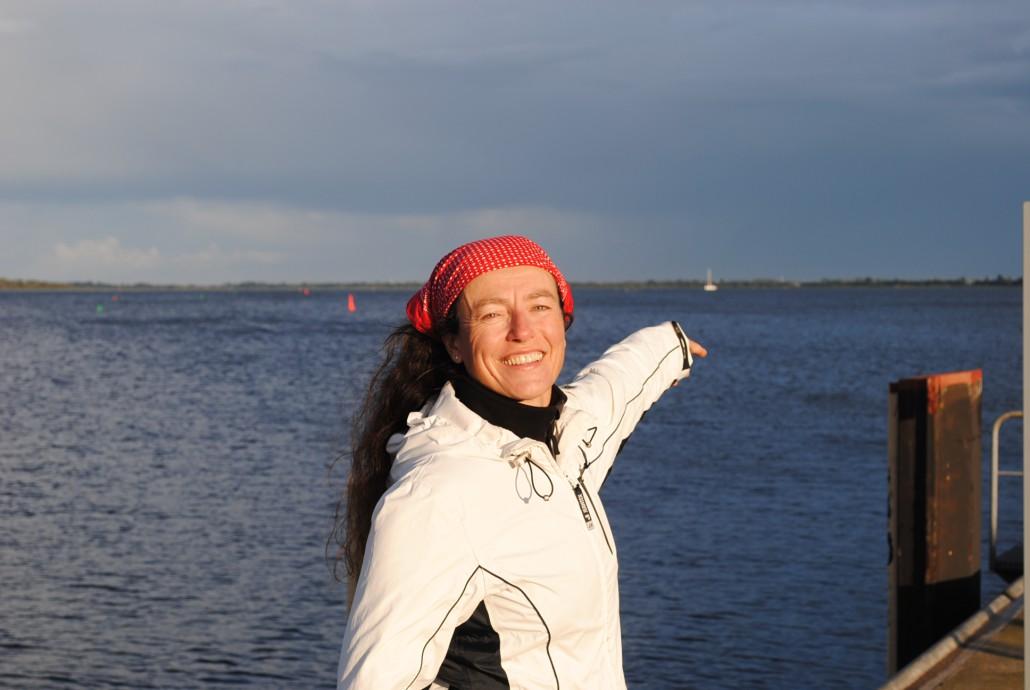 Katja freut sich aufs Segeln